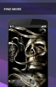 3D Flaming Skull Wallpaper for Free screenshot 1