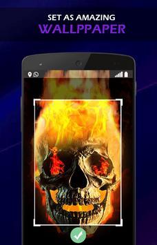 3D Flaming Skull Wallpaper for Free screenshot 3