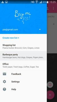 Shopping List - Buy Me a Pie! apk screenshot