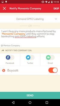 Capture d'écran de l'apk Buycott - Barcode Scanner Vote