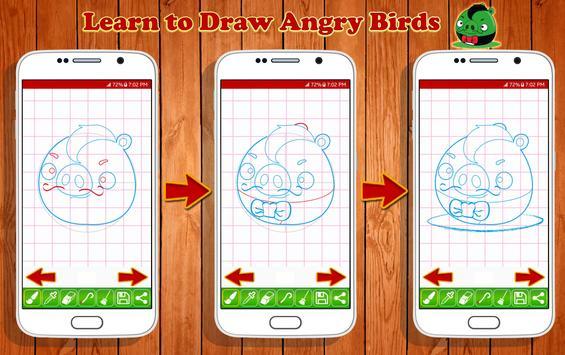 Learn to Draw Angry Bird Characters screenshot 13