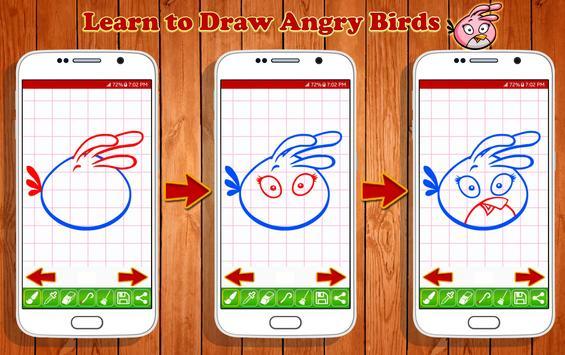 Learn to Draw Angry Bird Characters screenshot 2