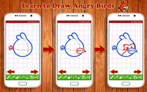 Learn to Draw Angry Bird Characters screenshot 8