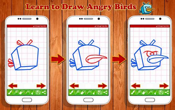 Learn to Draw Angry Bird Characters screenshot 9