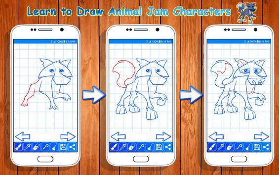 Learn to Draw Animal Jam Characters poster