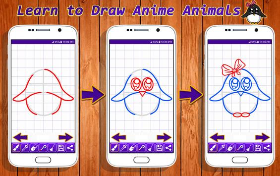 Learn to Draw Anime Animals poster