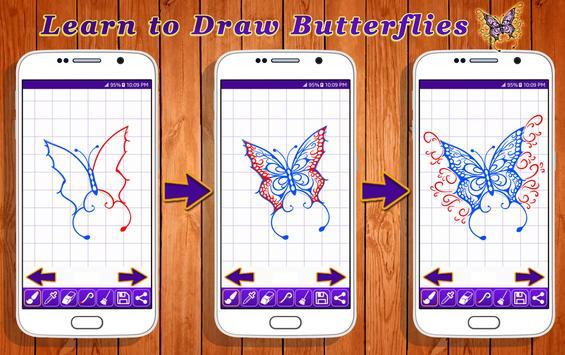 Learn to Draw Butterflies screenshot 1