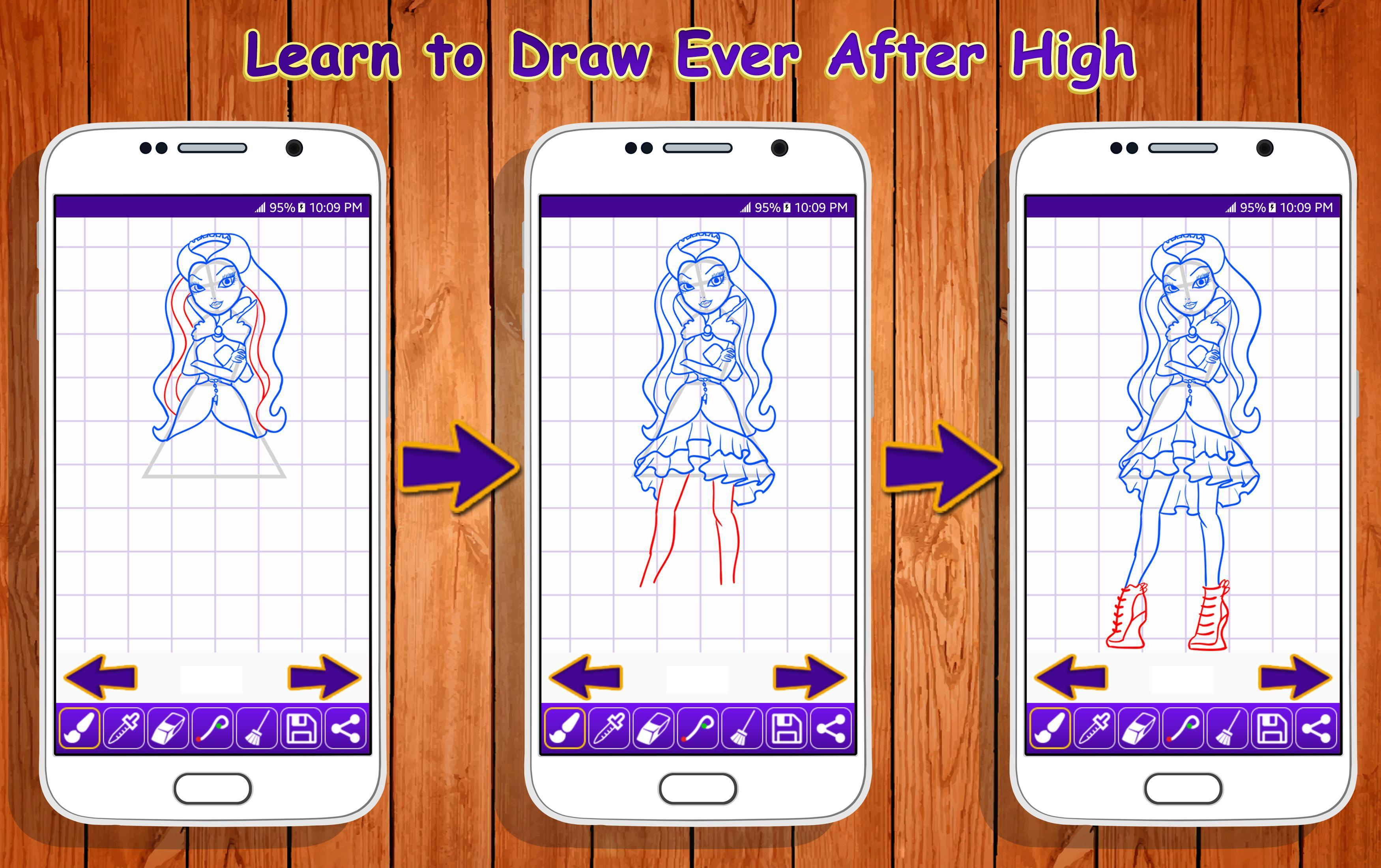 Learn To Draw Ever After High Characters For Android Apk Download