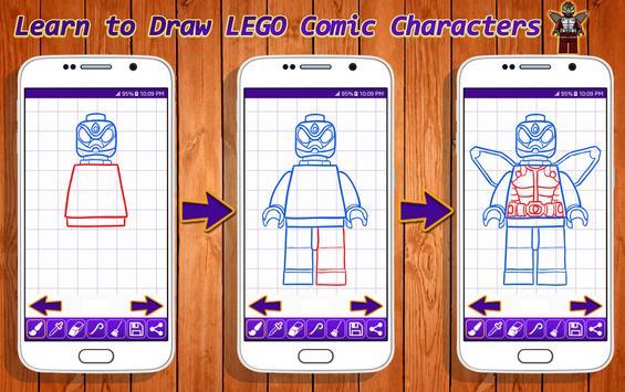 Learn to Draw Lego Comic Characters screenshot 15