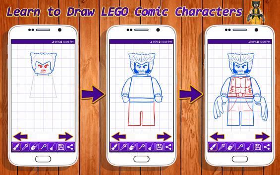 Learn to Draw Lego Comic Characters screenshot 11
