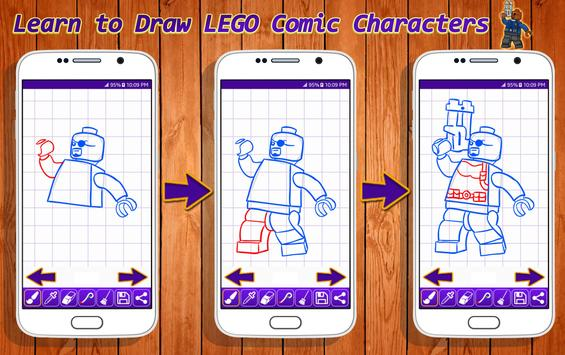 Learn to Draw Lego Comic Characters screenshot 4