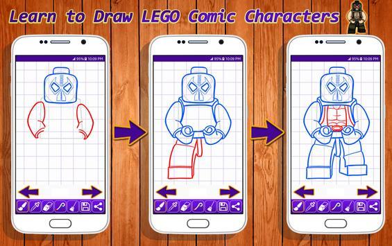 Learn to Draw Lego Comic Characters screenshot 5