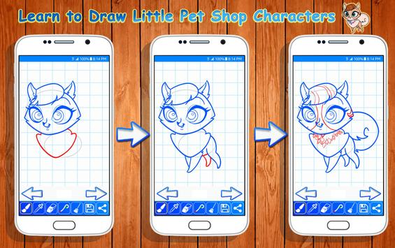 Learn to Draw Little Pet Shop Characters screenshot 3