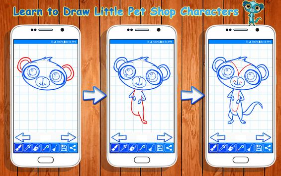 Learn to Draw Little Pet Shop Characters screenshot 10