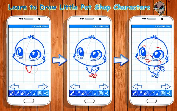 Learn to Draw Little Pet Shop Characters apk screenshot