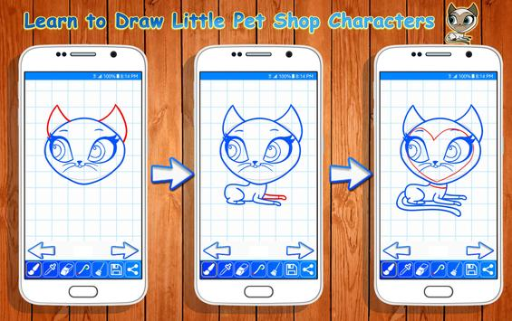 Learn to Draw Little Pet Shop Characters screenshot 1