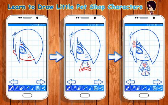 Learn to Draw Little Pet Shop Characters screenshot 7