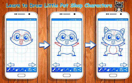Learn to Draw Little Pet Shop Characters screenshot 6