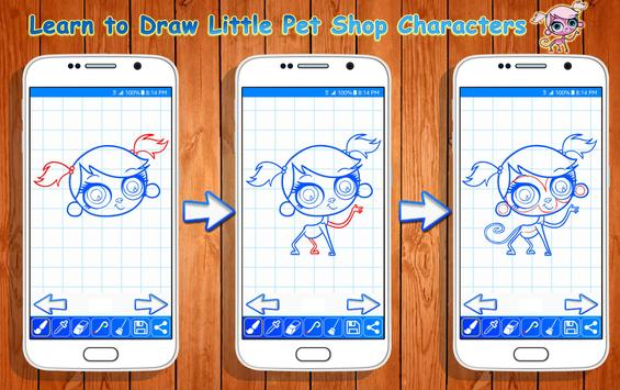 Learn to Draw Little Pet Shop Characters screenshot 8