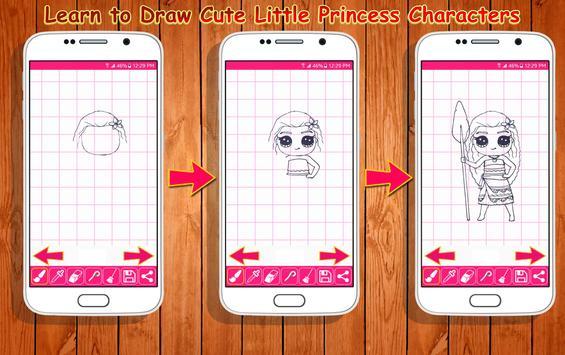 Learn to Draw Little Princess screenshot 2