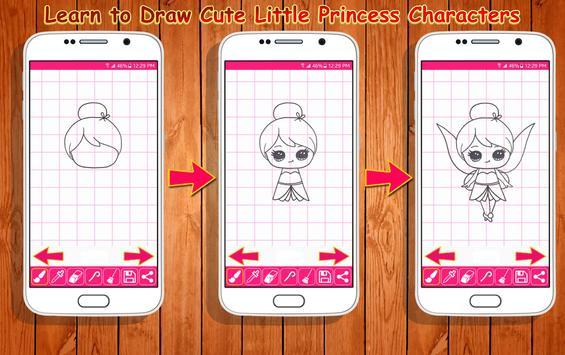 Learn to Draw Little Princess screenshot 4