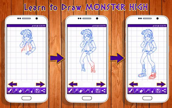 Learn to Draw Monster High Characters screenshot 6