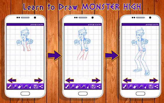 Learn to Draw Monster High Characters screenshot 7