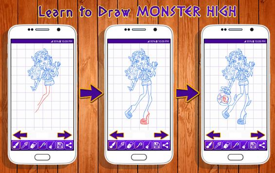 Learn to Draw Monster High Characters screenshot 10