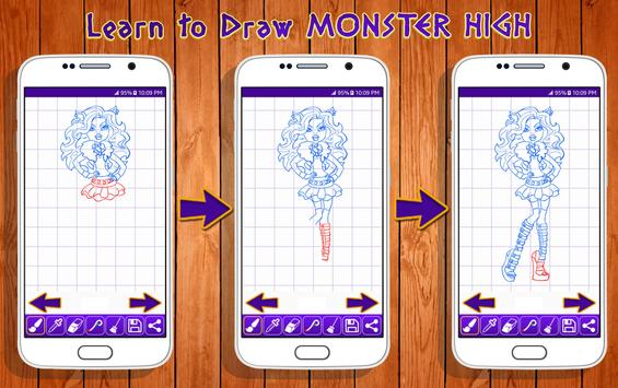 Learn to Draw Monster High Characters screenshot 1