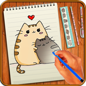 Learn to Draw Pusheen Cat Characters icon