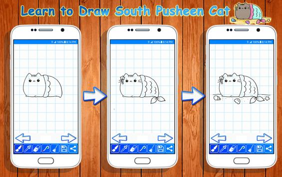 Learn to Draw Pusheen Cat Characters poster