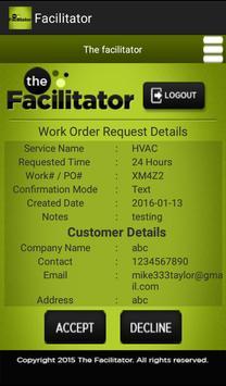 Facilitator screenshot 2