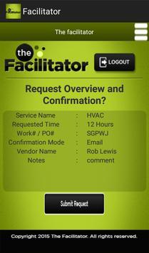 Facilitator screenshot 3