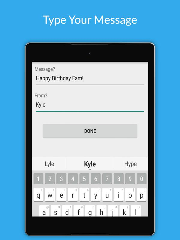 Uply Birthday Card App Screenshot 8