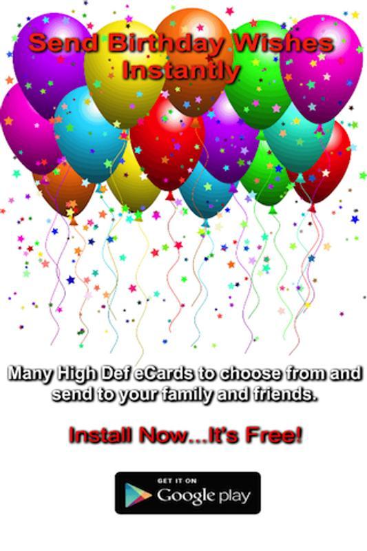 Uply Birthday Card App Plakat
