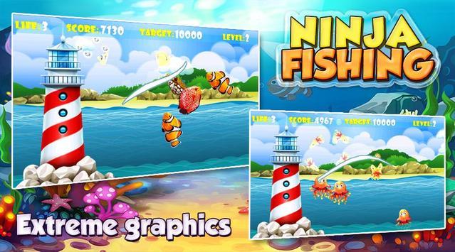 Ninja Fishing apk screenshot