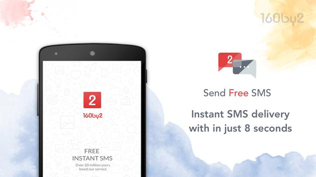 Free SMS by 160by2 poster
