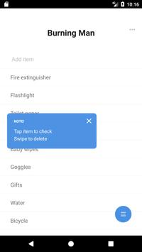 Packlist apk screenshot