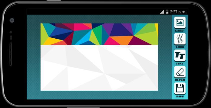 Visiting Card Maker 2017 apk screenshot