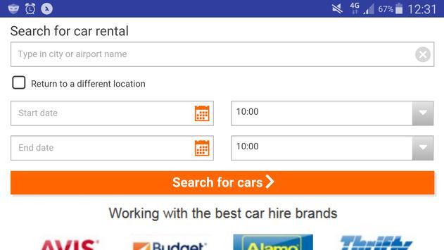 Car Rental Lite - Global Auto Rent -Worldwide Hire poster