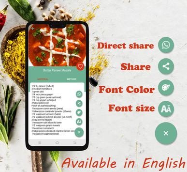 Paneer Recipe screenshot 4