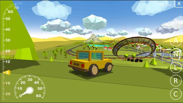 Driving simulator destructible poster
