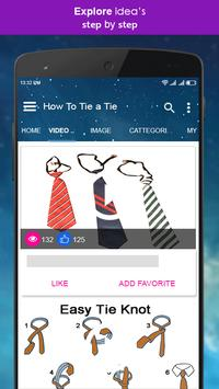 How to tie a tie video tutorial for android apk download how to tie a tie video tutorial screenshot 2 ccuart Choice Image
