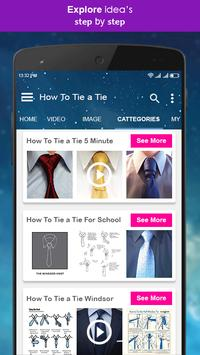 How to tie a tie video tutorial for android apk download how to tie a tie video tutorial screenshot 3 ccuart Choice Image