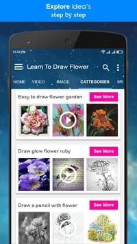 Learn To Draw Flower + Video Tutorial screenshot 3