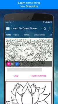 Learn To Draw Flower + Video Tutorial screenshot 1