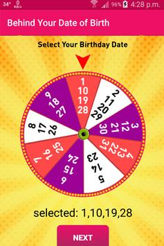 Behind Your Date of Birth apk screenshot