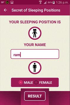 Secret of Sleeping Positions apk screenshot