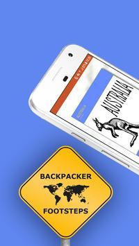 Backpacker Footsteps poster