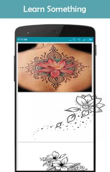 Flower Tattoo Design screenshot 3